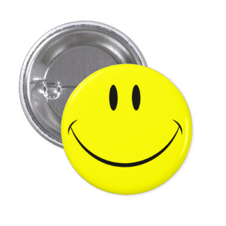 Smiley Face 1 Inch Round Button