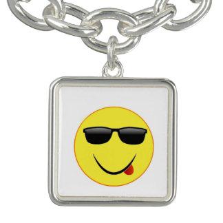 """Smiley Face 3"" Charm Bracelet"