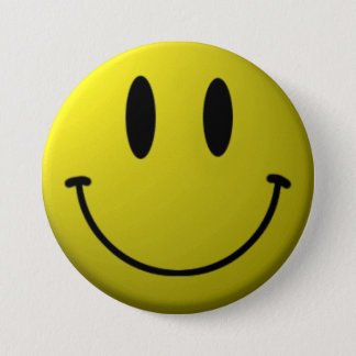 Smiley-Face 3 Inch Round Button
