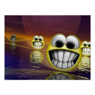 smiley face 3d poster
