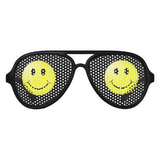 Smiley Face Aviator Sunglasses
