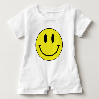 smiley face baby romper