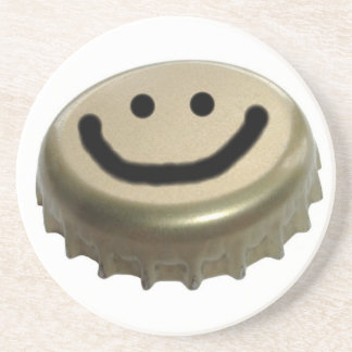 Smiley Face Beer Bottle Cap Coaster