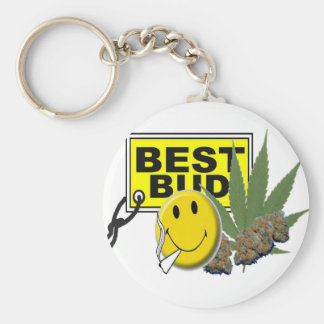 smiley face best bud collection keychain