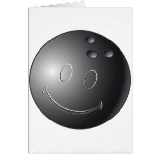 SMILEY FACE BOWLING BALL CARD