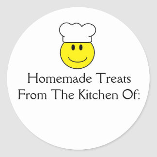 Smiley Face Chef Homemade Treats Sticker