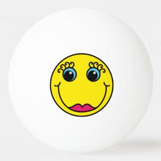 Smiley Face Couple Ping-Pong Ball