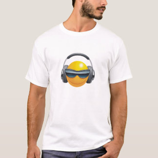 smiley face dj headphones design t-shirt