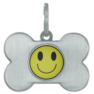 Smiley Face Dog Tag Pet ID Tags