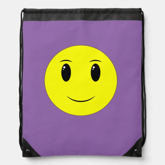 Smiley Face Drawstring Backpack