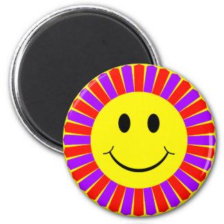 Smiley Face Flower Magnet