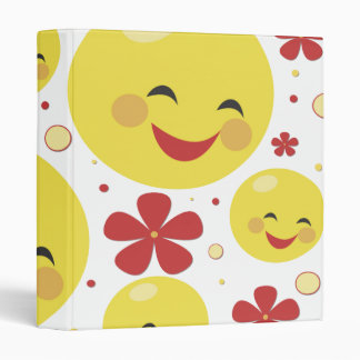 Smiley Face Flowers Binder