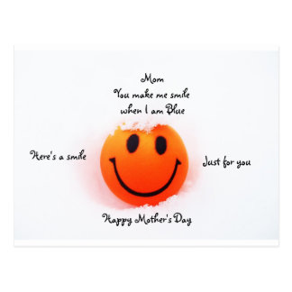 Smiley Face for Mom on Mother's Day Postcard
