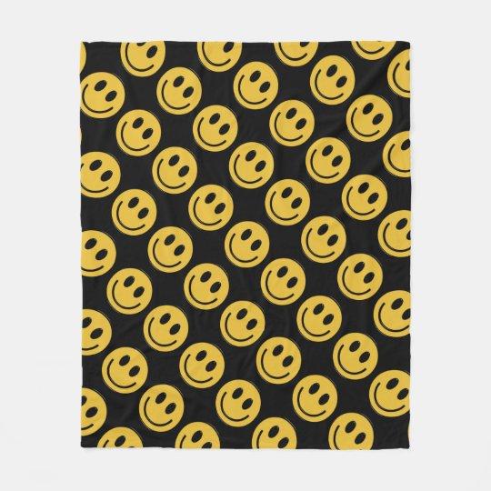 Smiley face fun fleece blanket