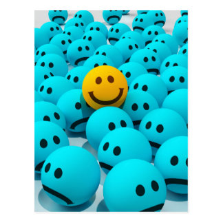Smiley Face fun Image Postcard