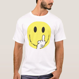 smiley face giving the finger T-Shirt