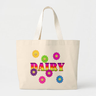 Smiley Face GROCERY DAIRY TOTE
