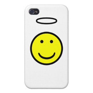 Smiley Face Halo Cover For iPhone 4