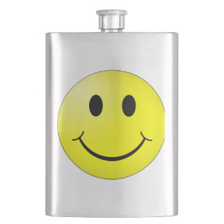 Smiley Face Hip Flask
