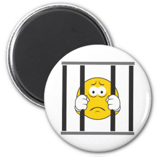 Smiley Face in Jail Magnet