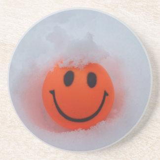 Smiley Face in Snow Coaster