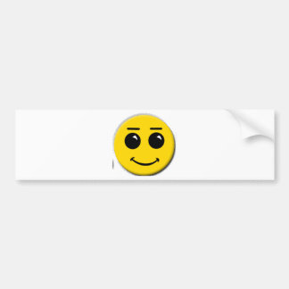smiley-face-large bumper sticker