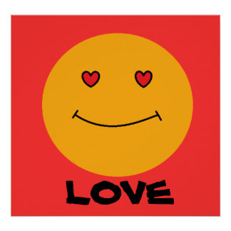 Smiley Face Love Poster