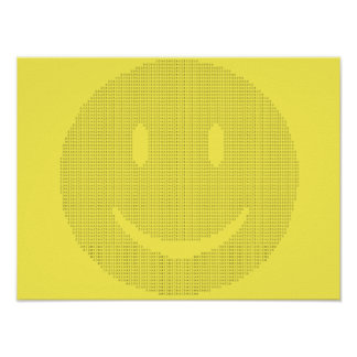 Smiley Face made of Smiley Faces Poster