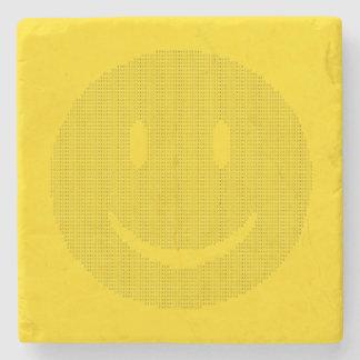 Smiley Face made of Smiley Faces Stone Coaster
