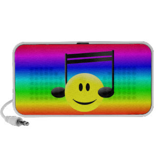 Smiley Face Musical Note Headphones iPod Speakers