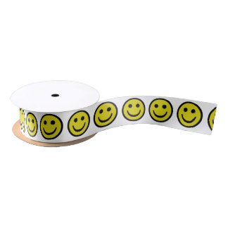Smiley Face ~ Original Satin Ribbon