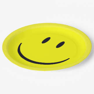 Smiley Face Paper Plate