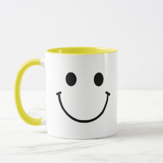 Smiley Face Ringer Mug 11 oz or 15 oz mug