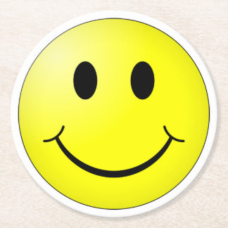 Smiley Face Round Paper Coaster