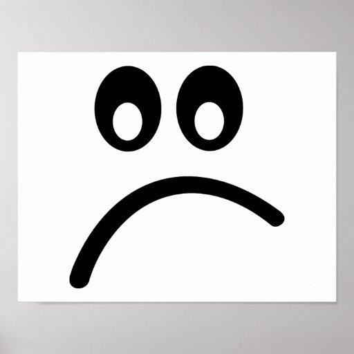 Smiley Face sad Print