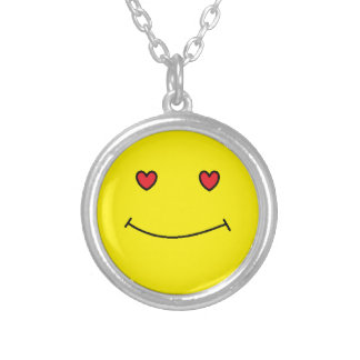 Smiley Face Silver Plated Necklace