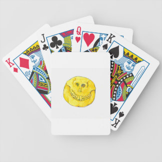 Smiley Face Skull Bicycle Playing Cards