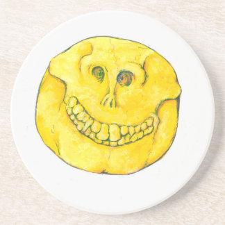 Smiley Face Skull Coaster