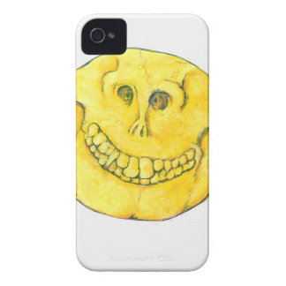 Smiley Face Skull iPhone 4 Cover