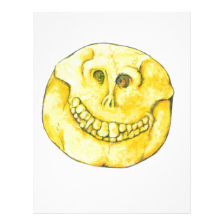 Smiley Face Skull Letterhead