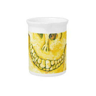 Smiley Face Skull Pitcher
