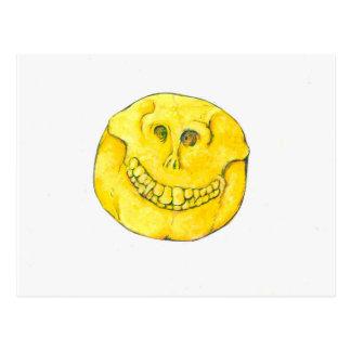Smiley Face Skull Postcard