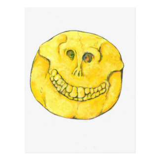 Smiley Face Skull Postcard