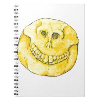 Smiley Face Skull Spiral Notebook