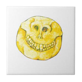 Smiley Face Skull Tile