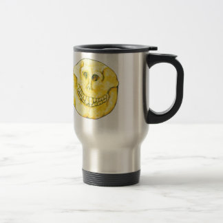 Smiley Face Skull Travel Mug