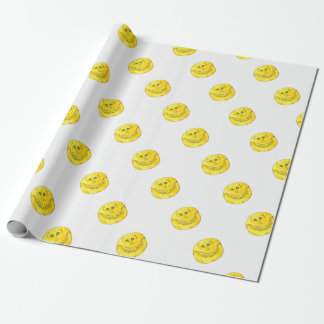 Smiley Face Skull Wrapping Paper