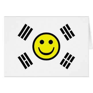 Smiley Face South Korean Flag Card