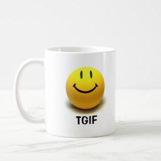 Smiley Face TGIF Mug