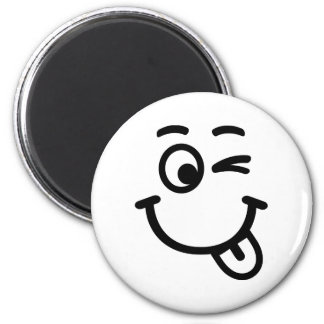 Smiley face wink magnet